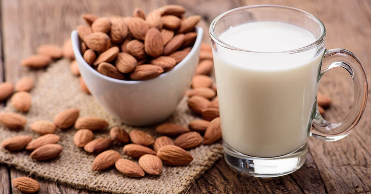 Almond milk is not vegan. Many honey bees work hard to make almonds happen.