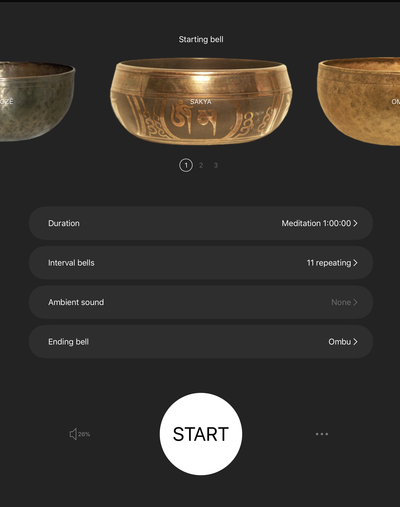 Insight Timer, an app using Tibetan singing bowls to time your meditations.