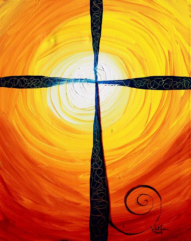 The symbology of the cross points the way to transcendence. Artwork by J. Vincent.