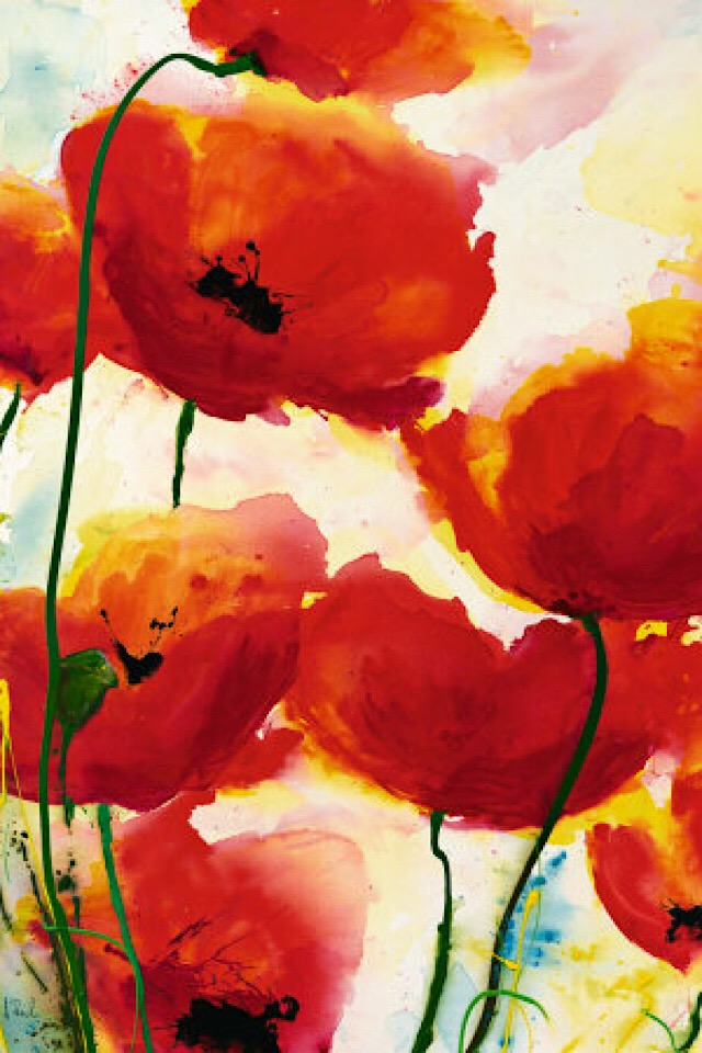 Poppies painted by Heidi Reil.