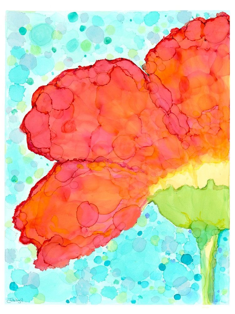 Poppy artwork as we remember our fallen on Memorial Day.