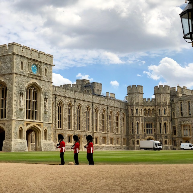 The Queen's private grounds at Windsor Castle, not open to the public.