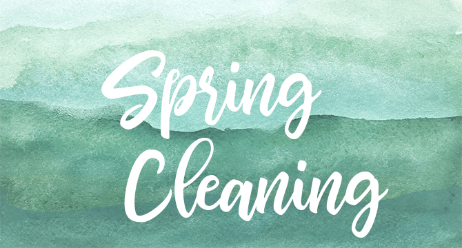 It's time for spring cleaning and decluttering.