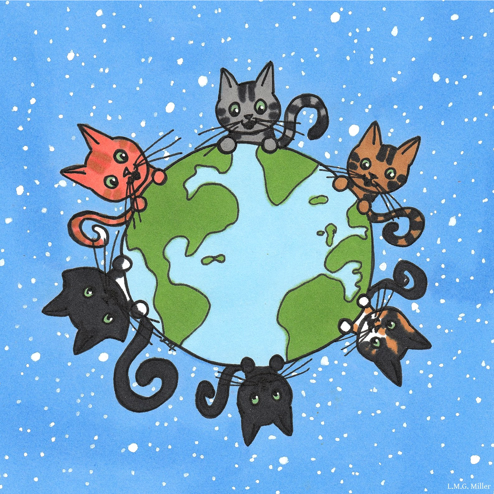It's World Cat Day on August 8. Loving our cats!