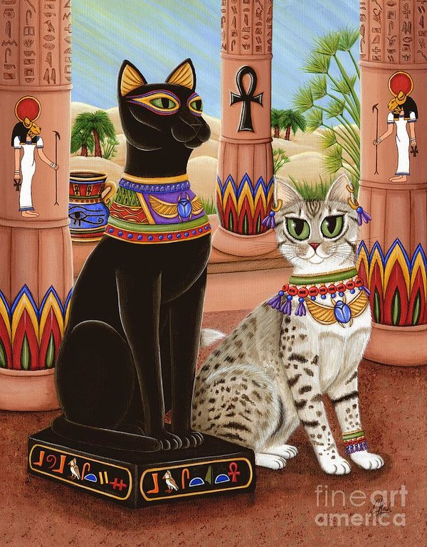 Temple of Bast, the Cat God in Egyptian times.