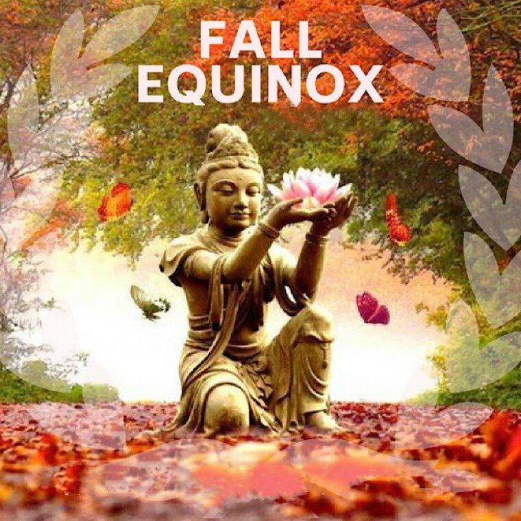 Fall equinox, when light and dark hang in equal balance.