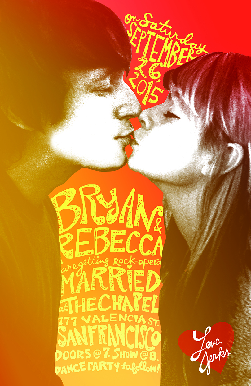 Our Wedding Rock Poster.