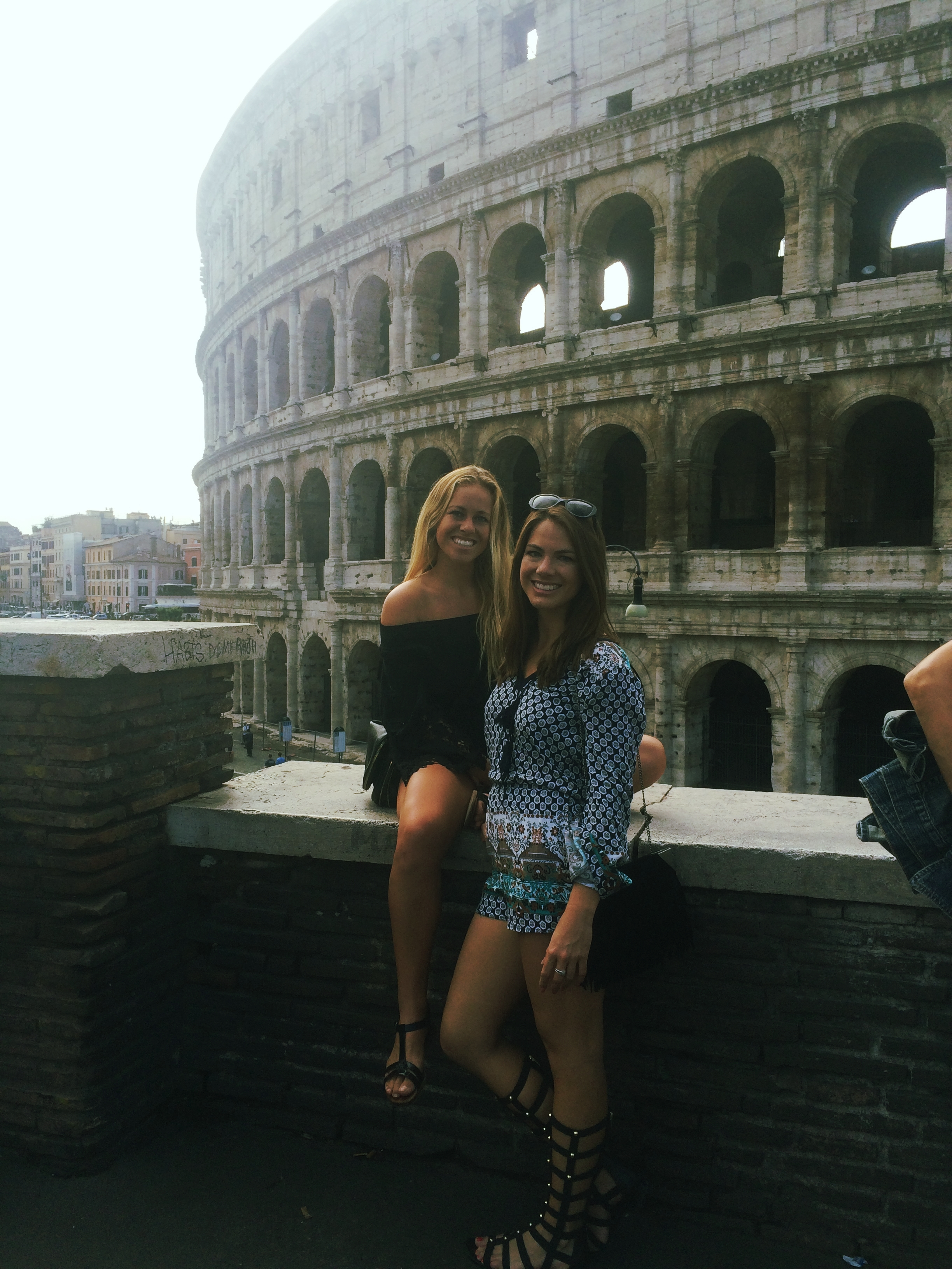 Hanging out next to the Colosseum