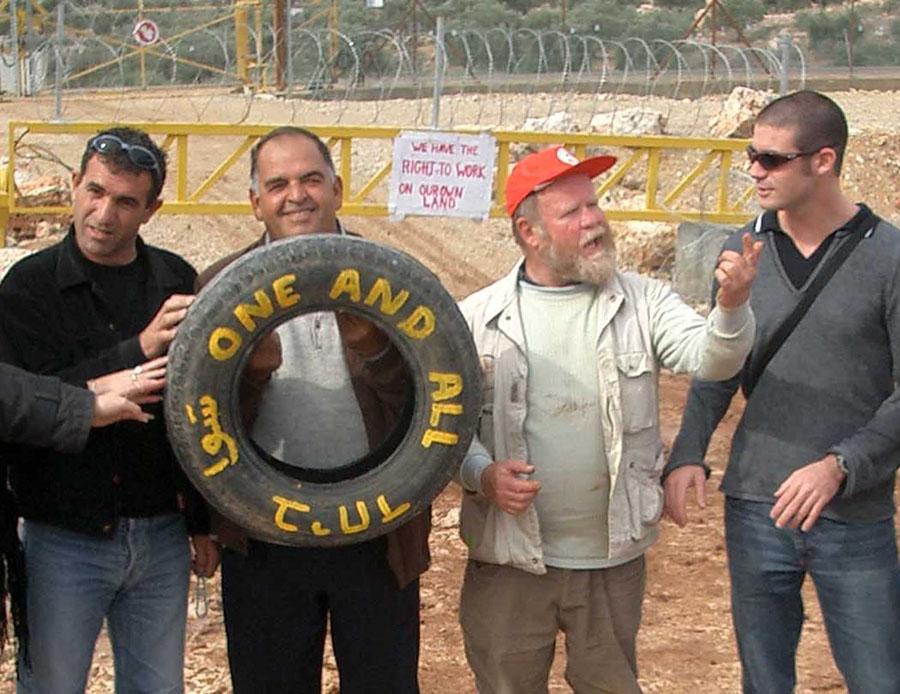 Roger Farnworth at North Gate with Israeli Students.jpg