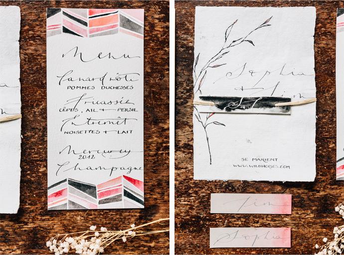 papeterie calligraphie Le Héron - photo Pierre Atelier