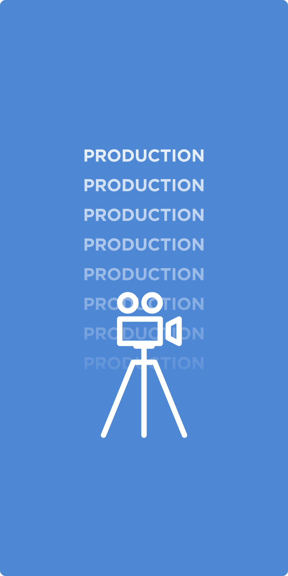 Production as we see it takes on many shapes and sizes. We play to the platform and the audience's expectations upon viewing it. But, whether it takes a massive crew, a one-man-band, or a person with their phone, we are able to handle it.
