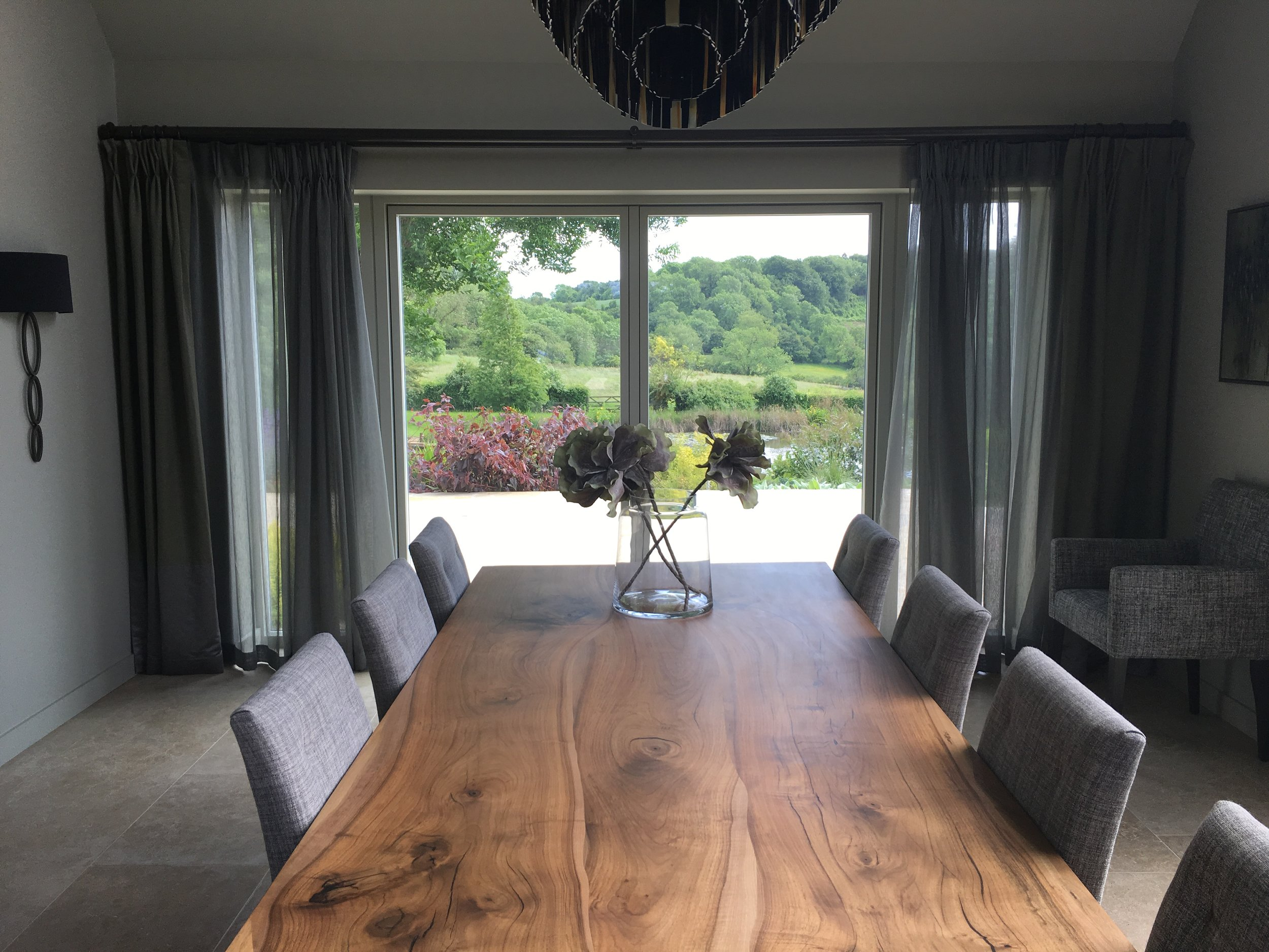 Timber dining table.