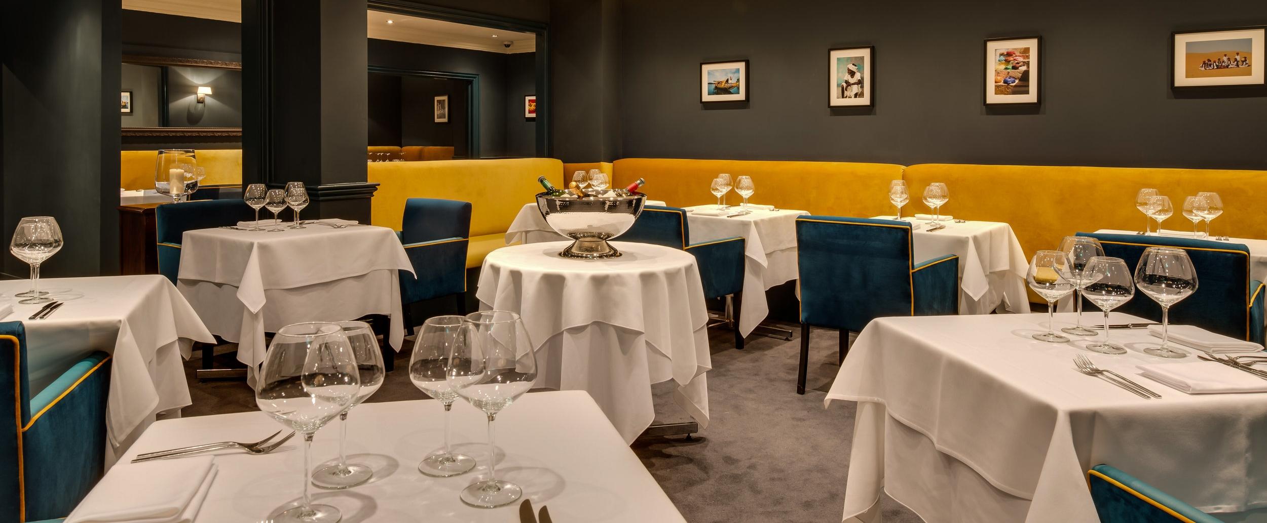 Restaurant dining room.