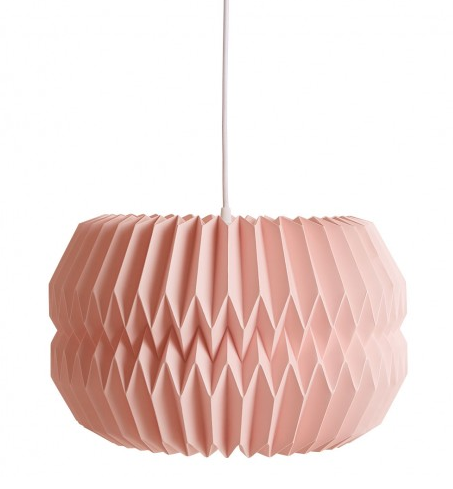 Habitat, Kura, Pink Large Paper Origami Lampshade, £40.00