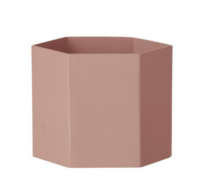 The Union Project, Hexagon Pot Extra Large, Rose, £42.00