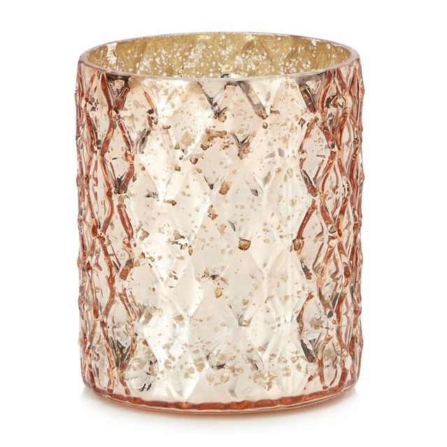 Debenhams, MW by Matthew Williamson, Pink Diamond Texture Tea Light Holder, £5.00