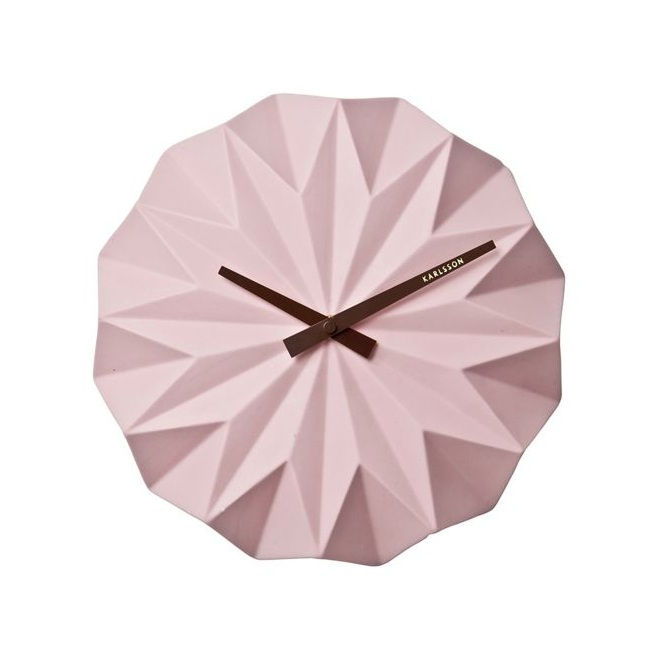 Debenhams, Karlsson, Pink Origami Wall Clock, £45.00