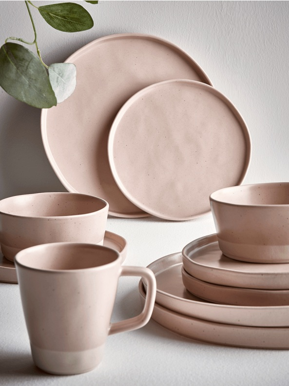 Cox & Cox, Speckled Dinnerware, Blush, from £65.00
