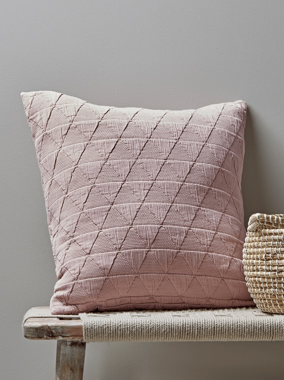 Cox & Cox, Soft Geometric Cushion, Blush, £45.00