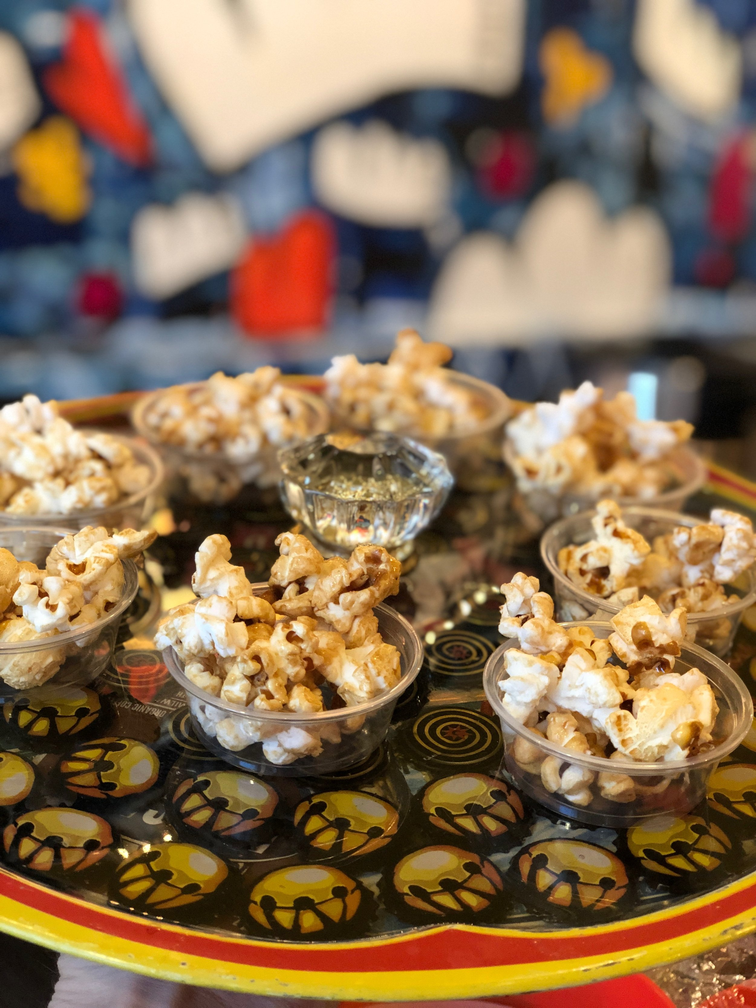 And of course,  Popcorn - Flavors rotate weekly starting at $2.50.