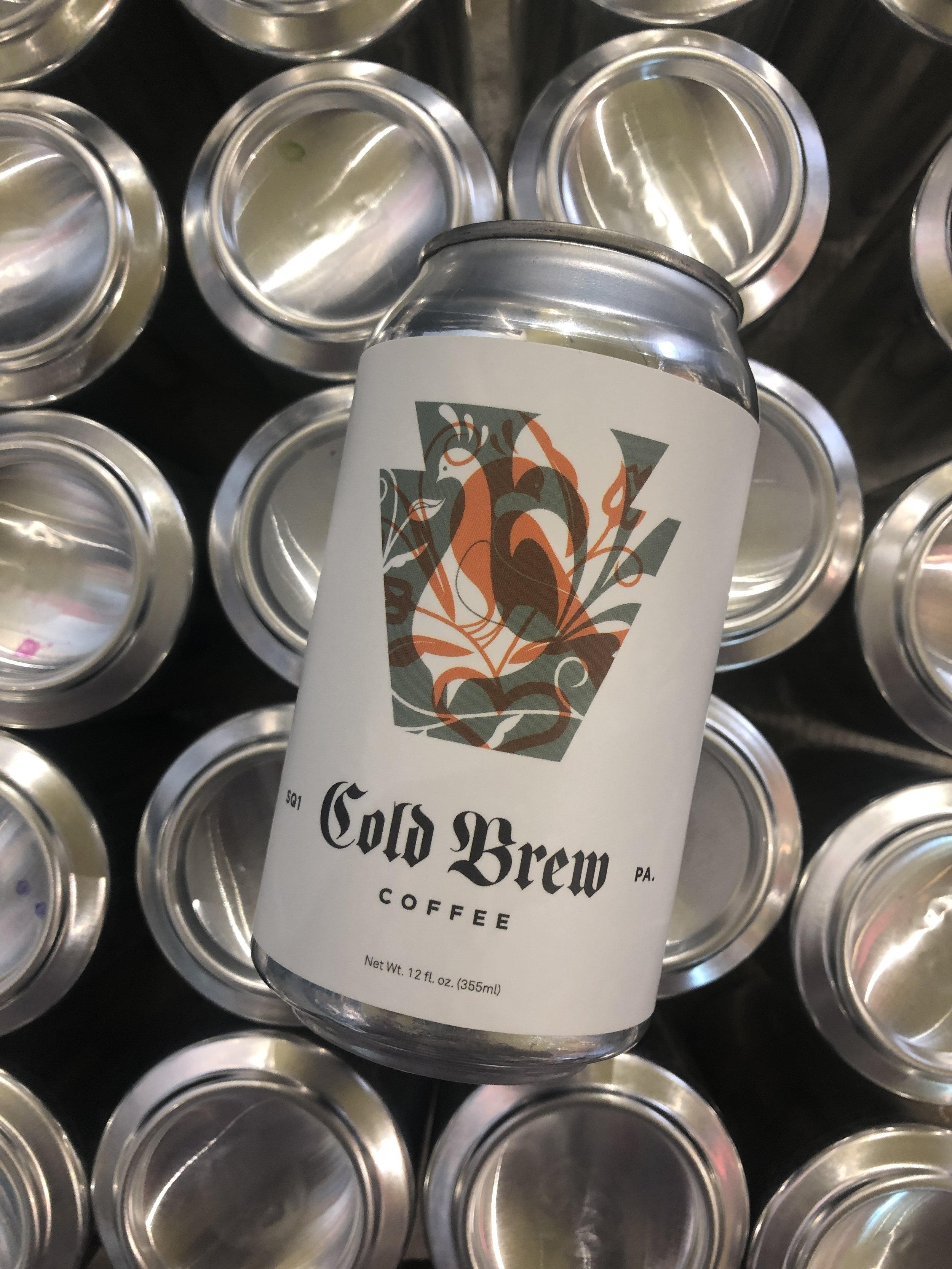 Square One Coffee, a coffee roaster in Lancaster, Pa,, wanted to can their cold brew instead of putting it in expensive, heavy, and breakable glass bottles. We helped them do that.