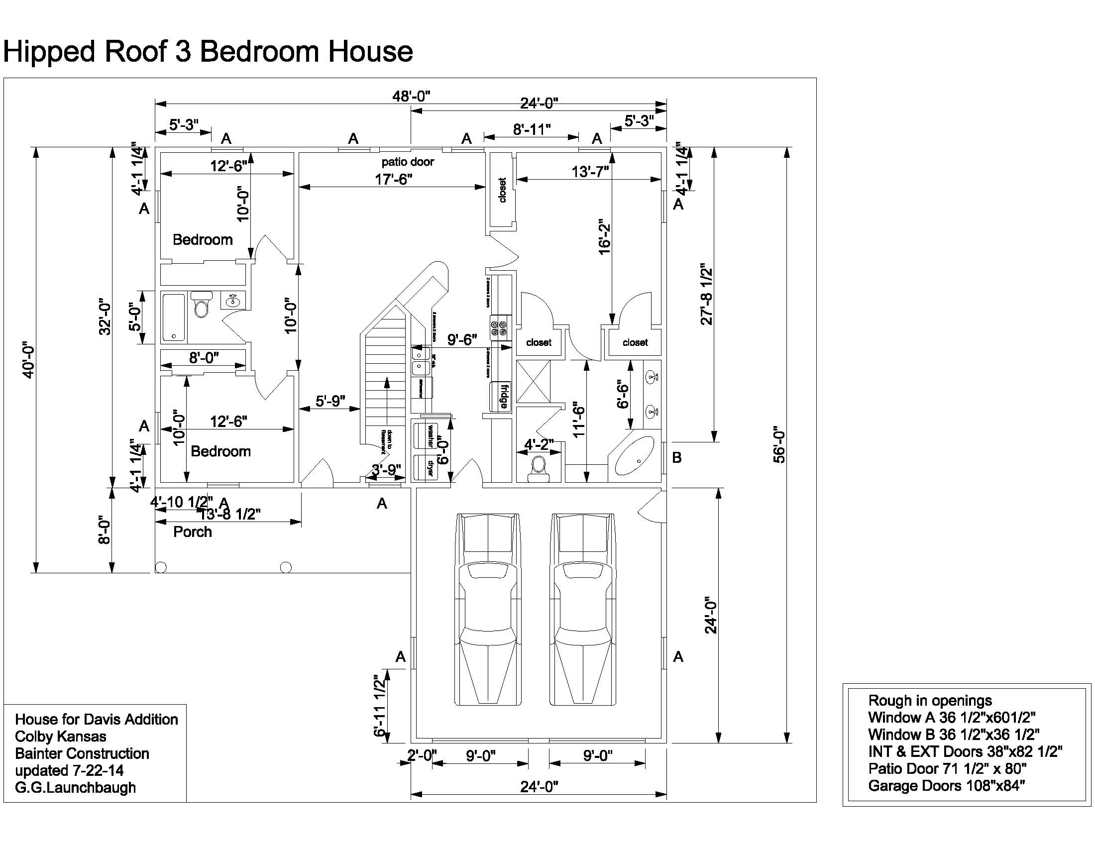 floorplan of home