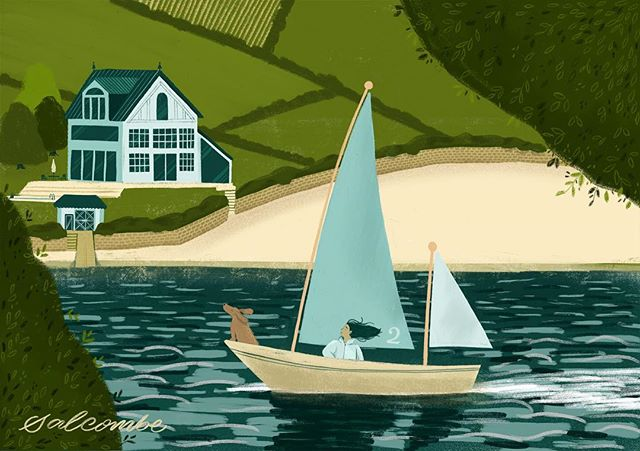 Dreaming of sandy shores. A sketch I did on my ipad while on my holibobs in Salcombe