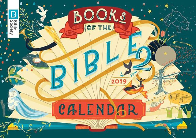My latest project with Bible Soicety - the next Books of the Bible calendar! (You can get yourself a copy ready for the new year on their website.) This week i'll be putting a free calendar in every order over £5 in my shop (until they run out!) Last day for UK orders if you want them before Christmas is this Friday the 14th, so don't leave it too late! 🤗🎄