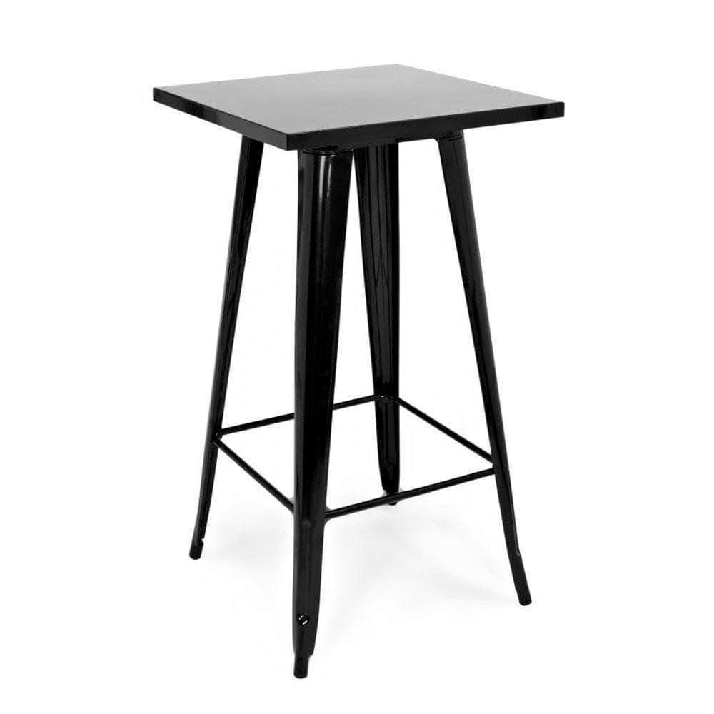 Black Tolix Bar High Table 60cm x 60cm x 101cm - $40 each or $30 with any cocktail package.