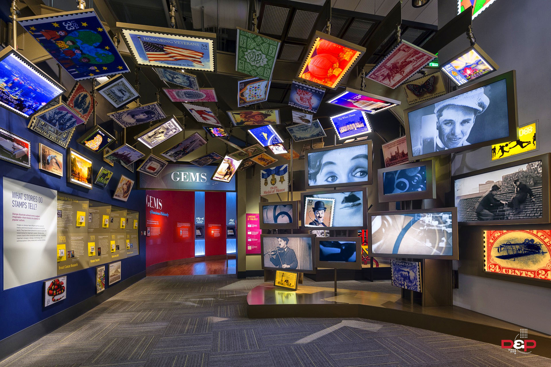 William H. Gross Stamp Gallery, National Postal Museum, Smithsonian Institution Washington, DC Exhibit Design: Gallagher & Associates Photo: ©Albert Vecerka / Esto
