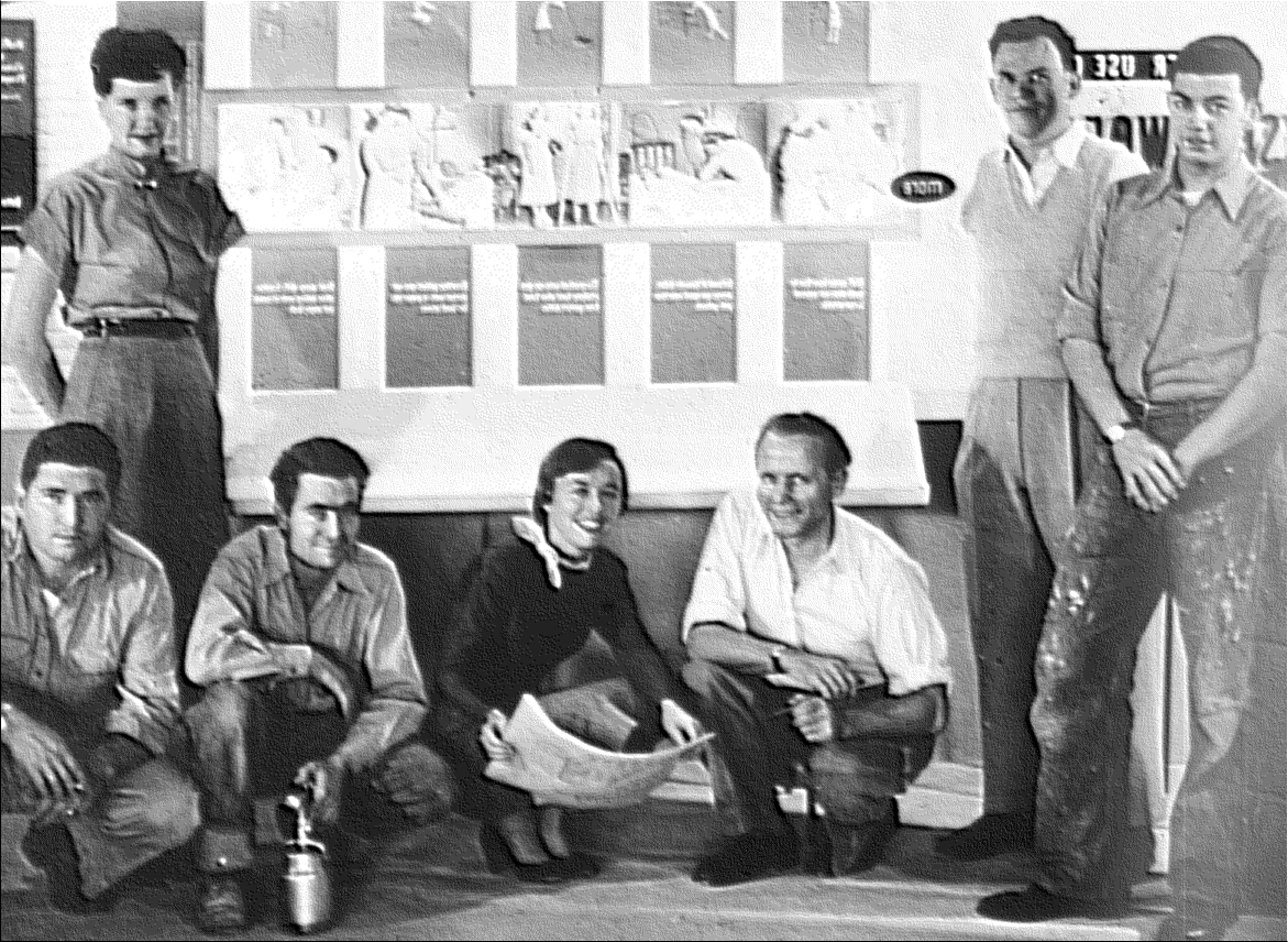 D&P staff members in the mid-1950s