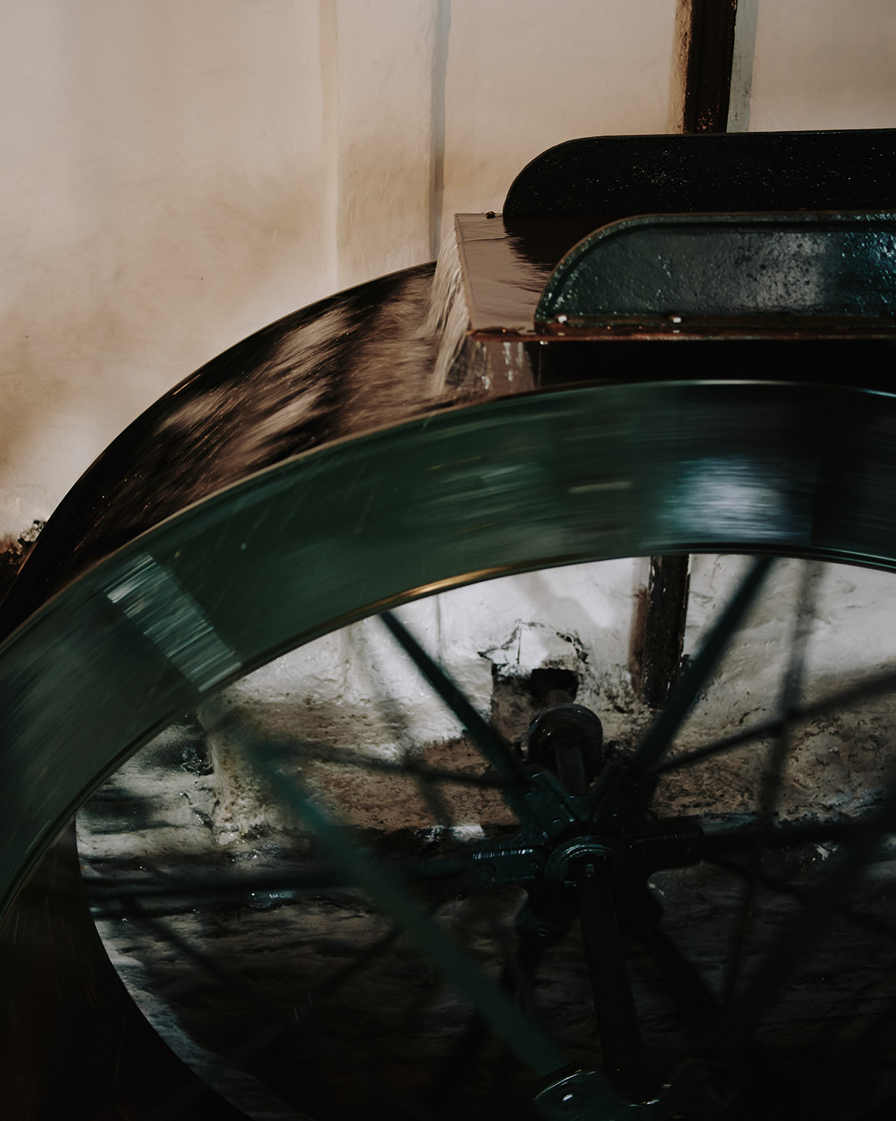 the restored water wheel