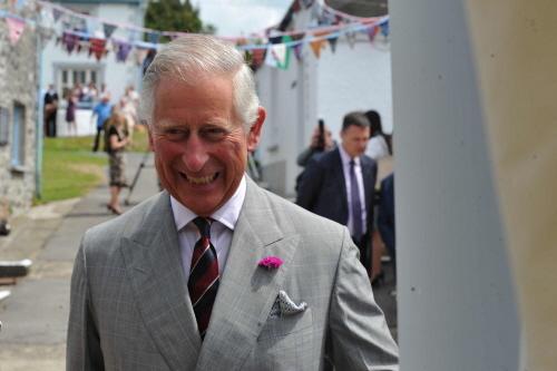 the Prince enjoying his visit
