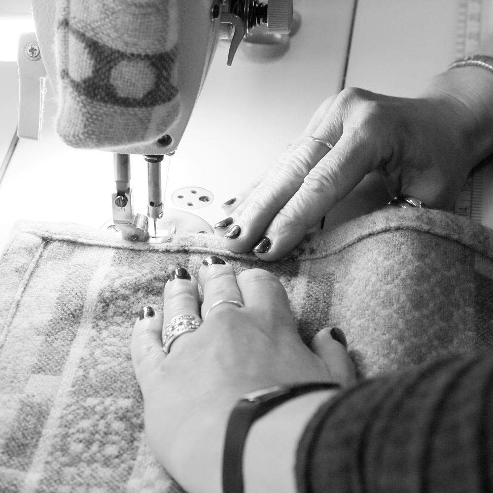 Melin Tregwynt - stitching blanket hem