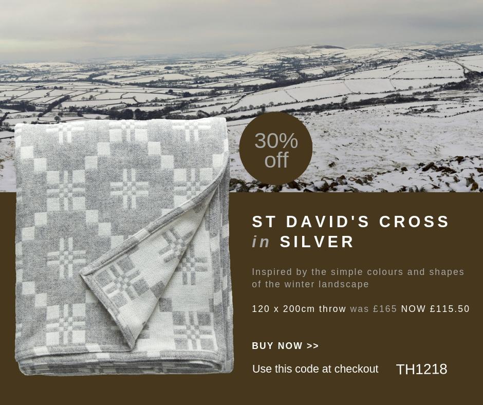 St David's Cross Silver throw 2.jpg