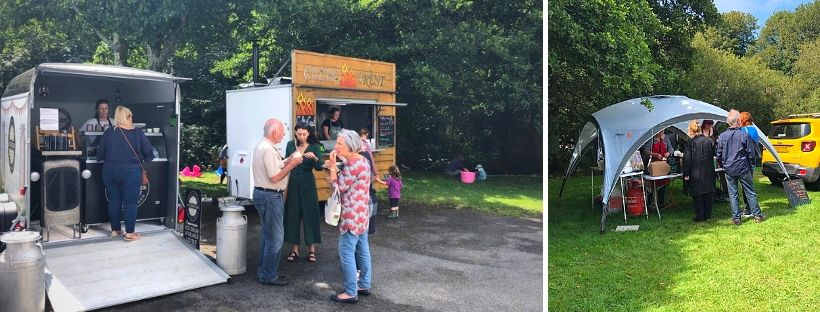 and a fantastic range of street food stalls, including ice cream from  Lochmeyler , Mexican food from  Cafe Medina  and wood fired vegan pizzas from  Celtic Crust