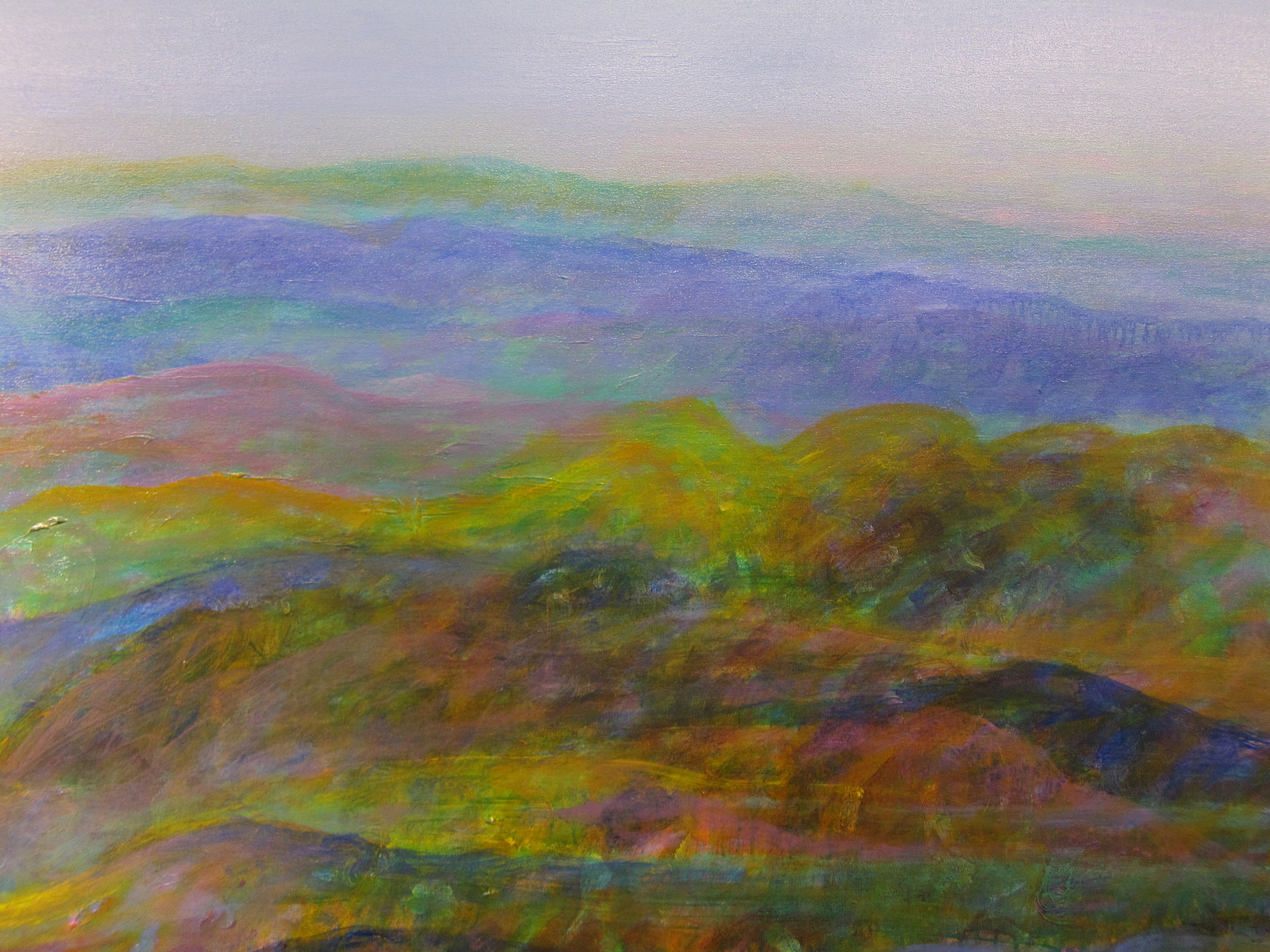 """Blue Morning"" Acrylic on Canvas 54""x64"""