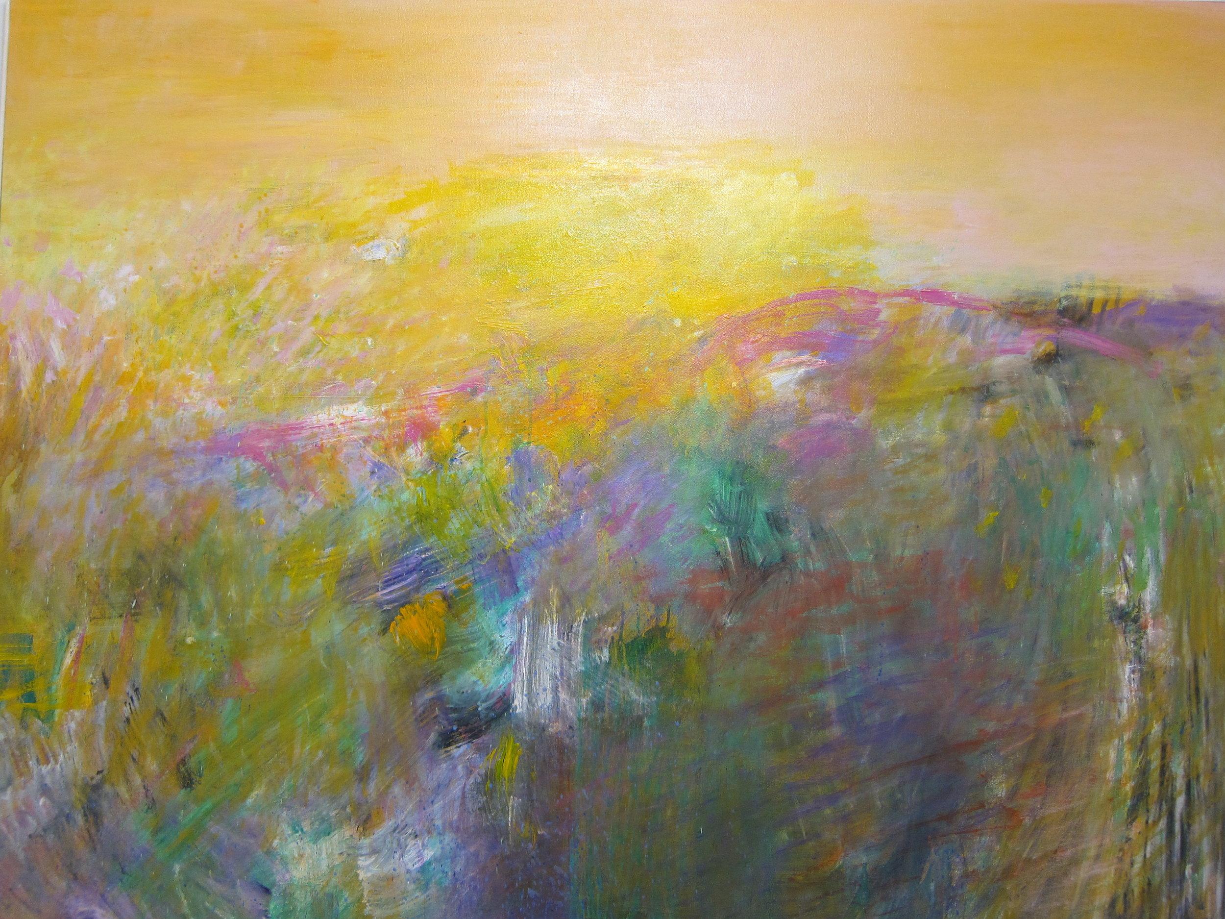 """""""Sunrise"""" Acrylic on Canvas 60""""x72"""""""
