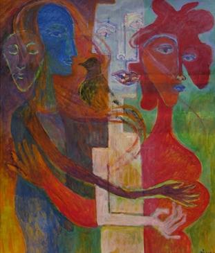 """Mirror"" Oil on Canvas 24""x28"""