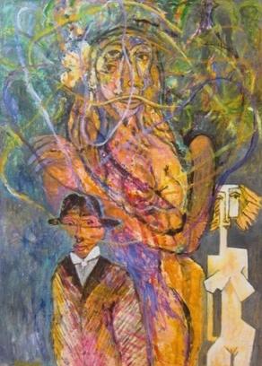 """""""Gaze"""" Oil on Canvas 36""""x40"""""""