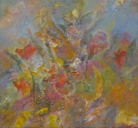 """""""Flowers""""Acrylic on Canvas 20"""" by 20"""""""