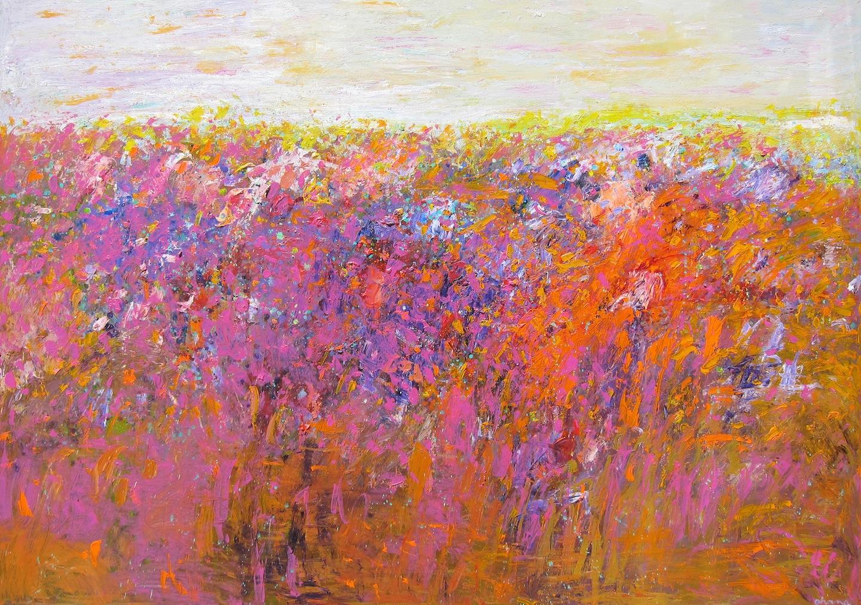 """""""Spring"""" Acrylic on Canvas 42""""x60"""""""