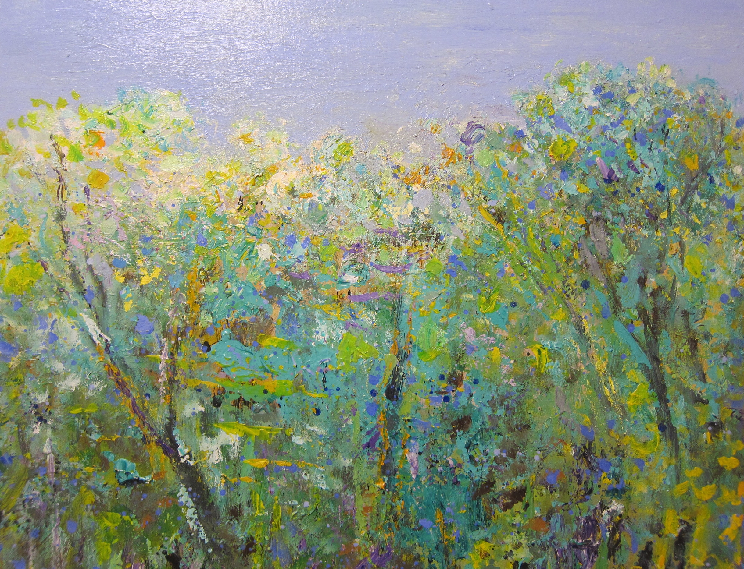 """""""Shimmering Wood #2"""" Acrylic on Canvas 28""""x28"""""""