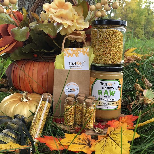 Our favourite colour is Fall!🍁🐝 ... TrueBee's fall harvest + beekeeping season is coming to a sweet end but you can enjoy the deliciousness + goodness of our local TrueBee wildflower honey all year long!🍯Our TrueBee Raw Honey is full of local pollens, vitamins, minerals + important enzymes! Boost your immune system + stay golden during the colder months with our local liquid gold! ✨ ... Thank YOU for supporting our honey farm + honeybees! Our honeybees help pollinate pumpkins, squash, apples and all your favourite Fall foods! Give thanks by creating truly local meals + celebrating the best of your local producers + farmers! 🍎  Visit our website in bio for a local TrueBee Honey retailer near you! 🍁#localhoney613