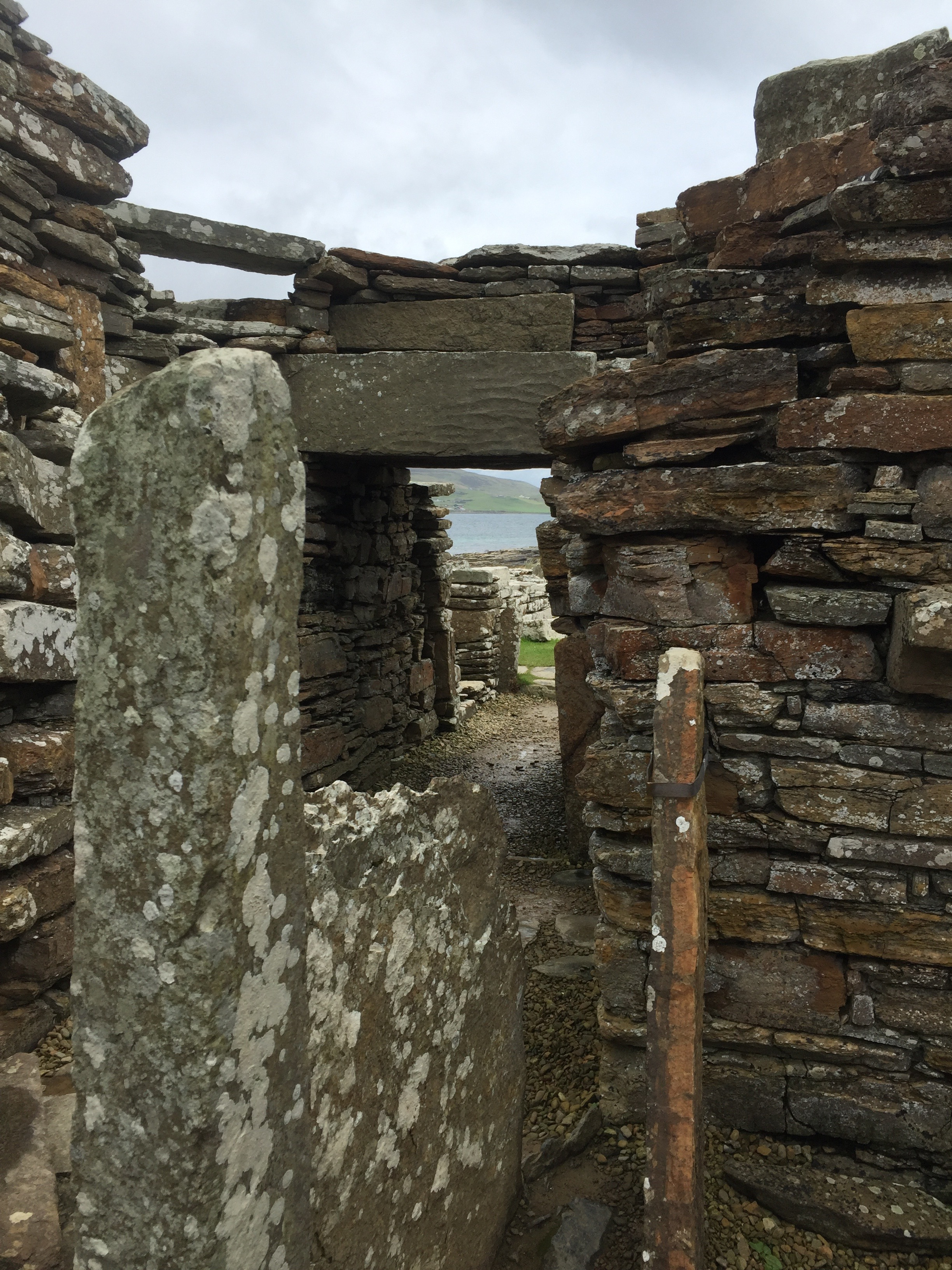 Doorway of of the tower. Broch of Gurness.