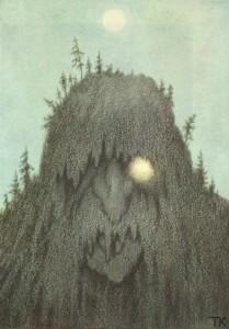 Skogtroll (Forest troll) by Theodor Kittelsen