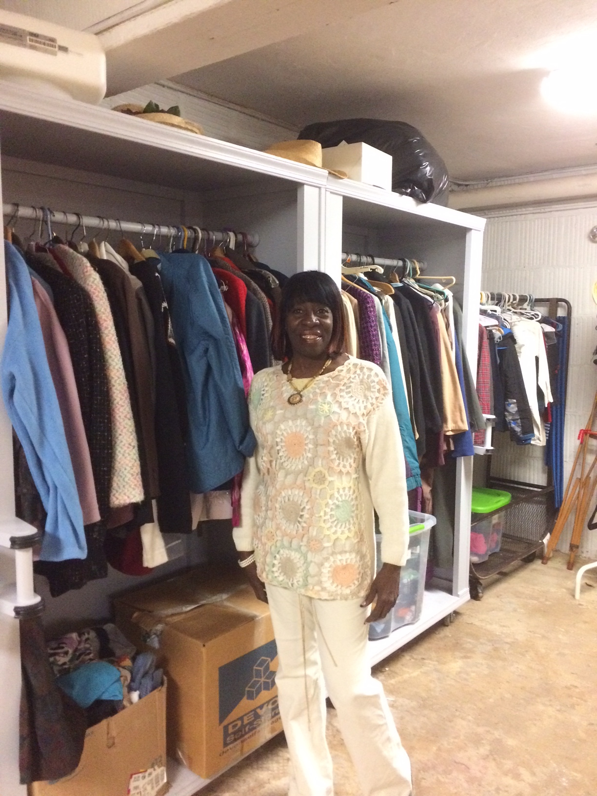 Bridget volunteers at our Clothing Shop and is wonderful with our shoppers.