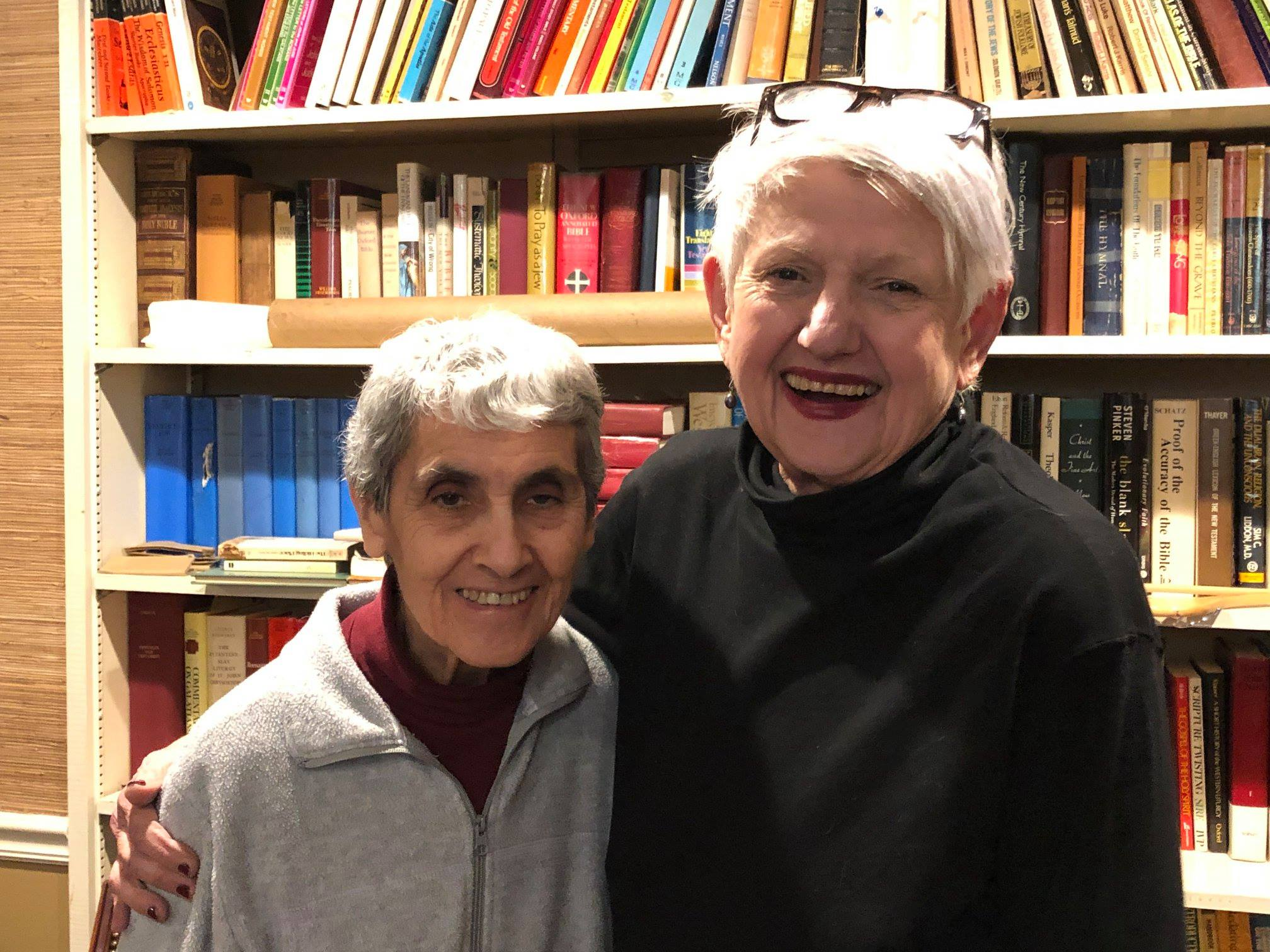 "Sister Jacinta and Barbara are our ""greeter"" volunteers, a new services of ours."