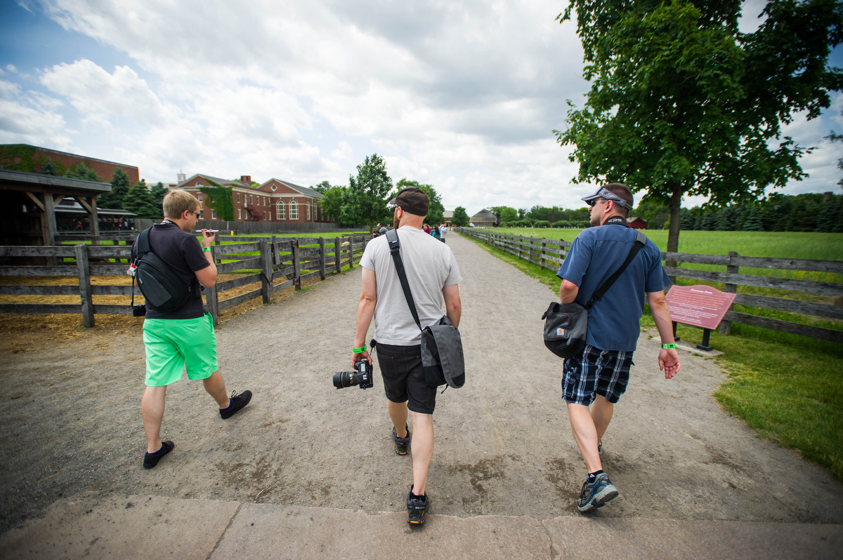 Photographers exploring Greenfield Village. The locals were invaded!