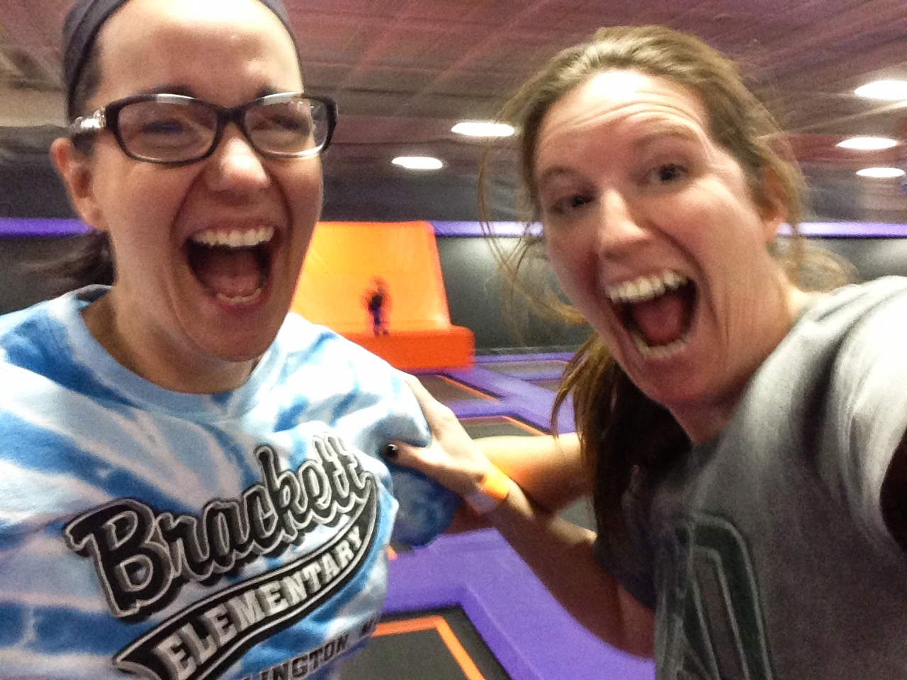 at a local trampoline park, 2015